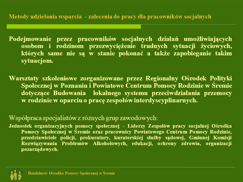 Współpraca specjalistów z różnych grup zawodowych: