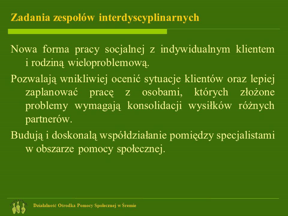Zadania zespołów interdyscyplinarnych