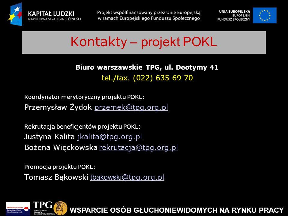 Kontakty – projekt POKL