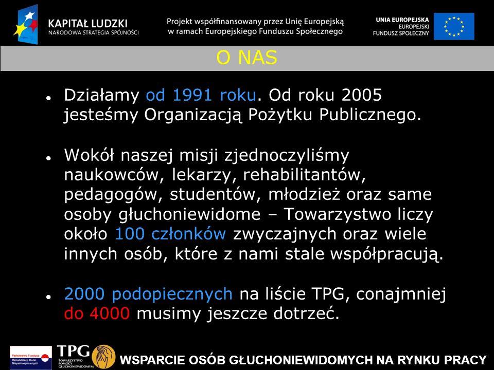 O NAS Działamy od 1991 roku. Od roku 2005 jesteśmy Organizacją Pożytku Publicznego.