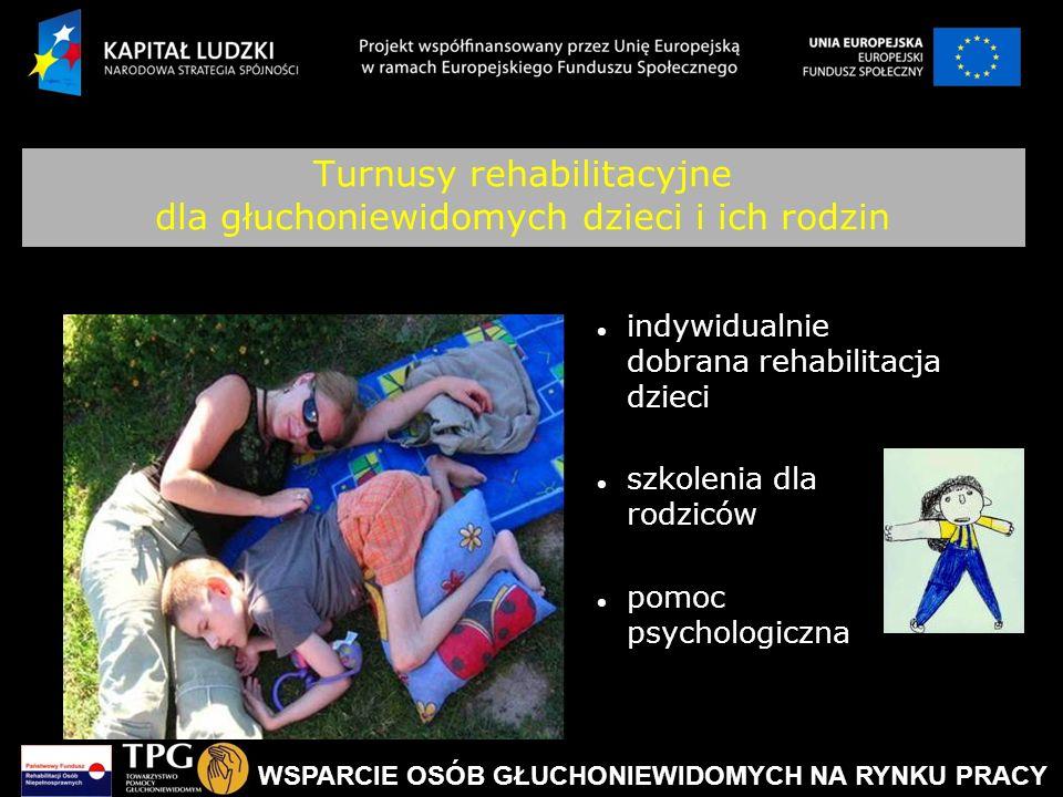 Turnusy rehabilitacyjne dla głuchoniewidomych dzieci i ich rodzin