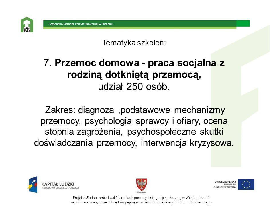 7. Przemoc domowa - praca socjalna z rodziną dotkniętą przemocą,