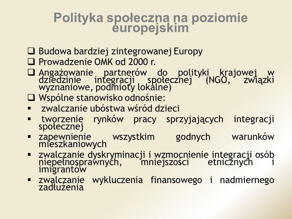 Polityka społeczna na poziomie europejskim