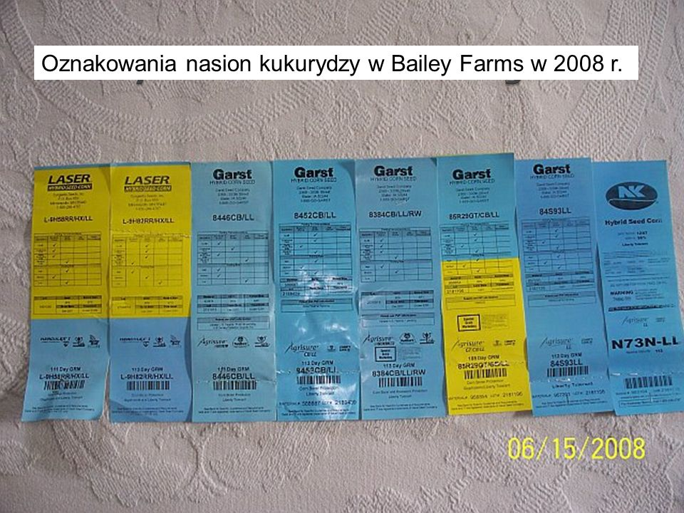 Bailey Farms Seed Corn Tags 2008