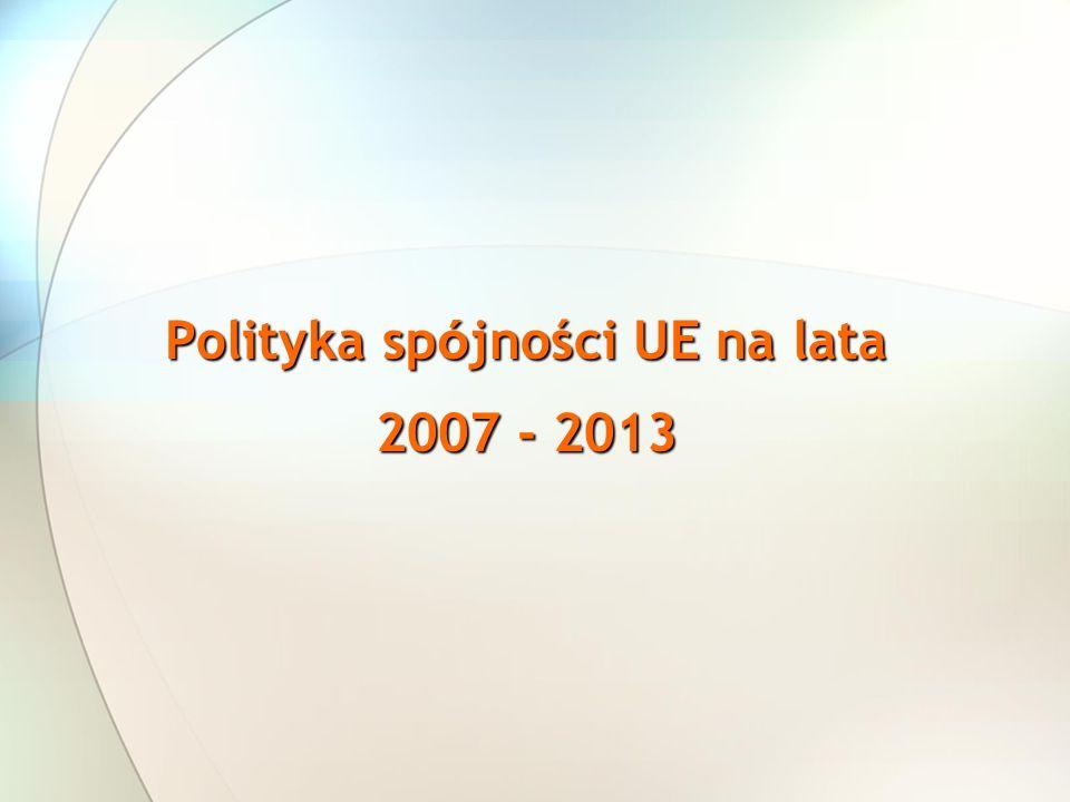 Polityka spójności UE na lata