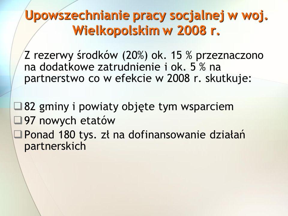 Upowszechnianie pracy socjalnej w woj. Wielkopolskim w 2008 r.