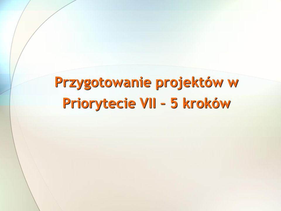 Przygotowanie projektów w Priorytecie VII – 5 kroków