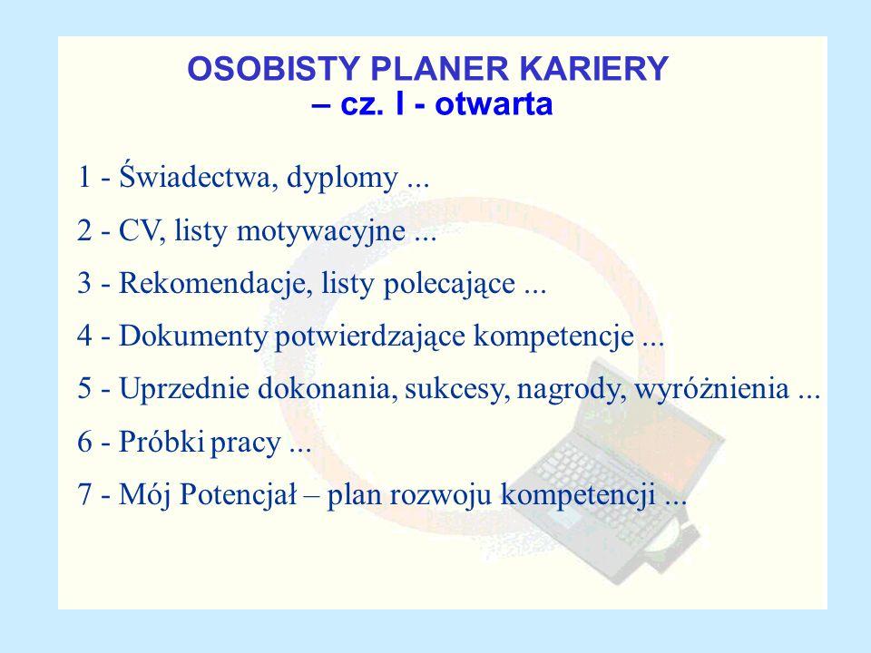OSOBISTY PLANER KARIERY