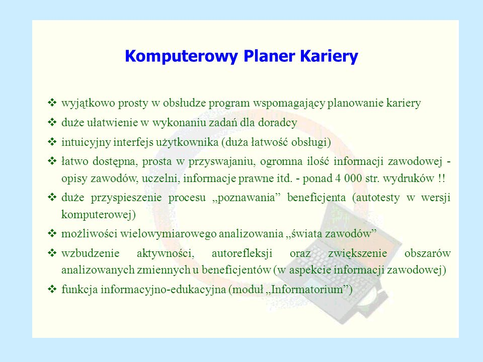 Komputerowy Planer Kariery