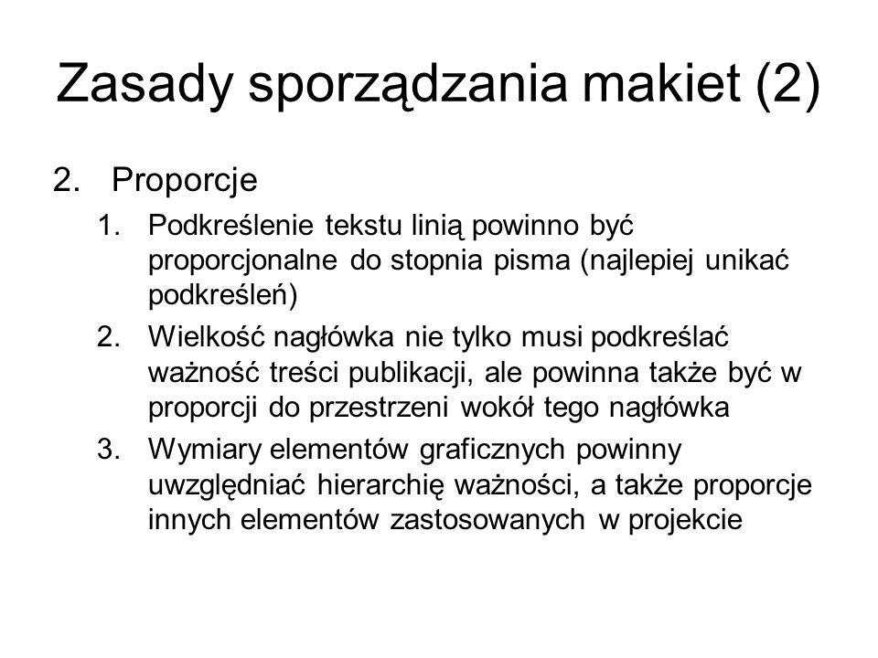 Zasady sporządzania makiet (2)