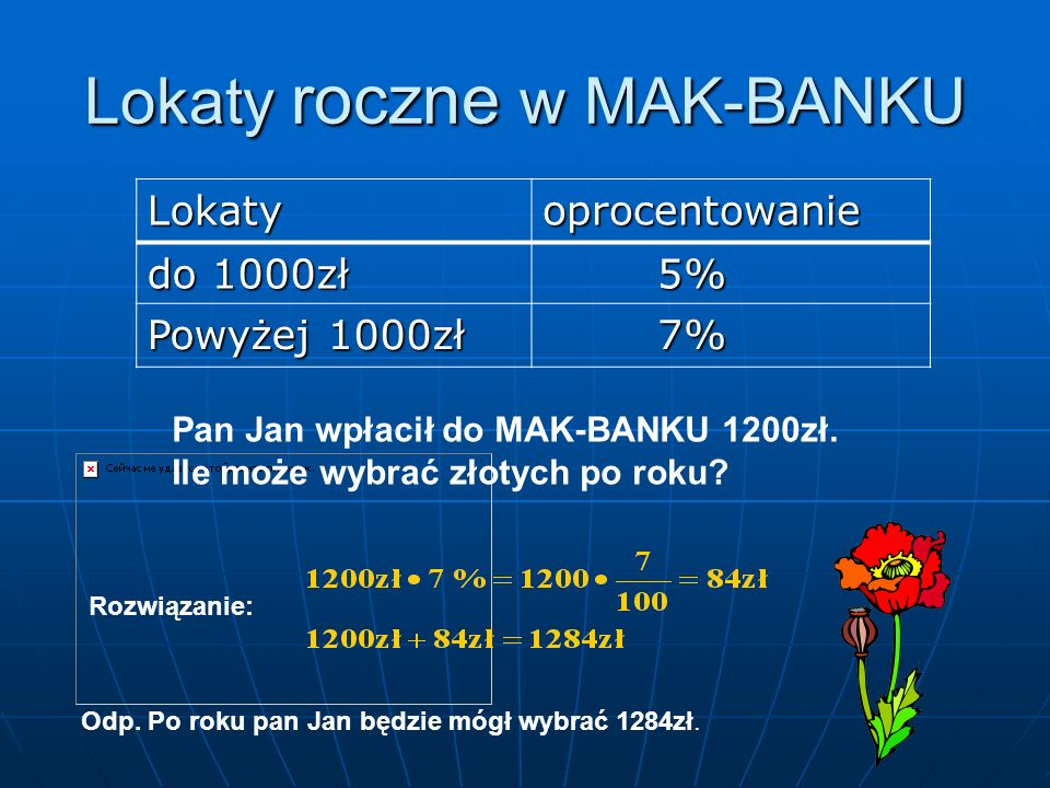 Lokaty roczne w MAK-BANKU