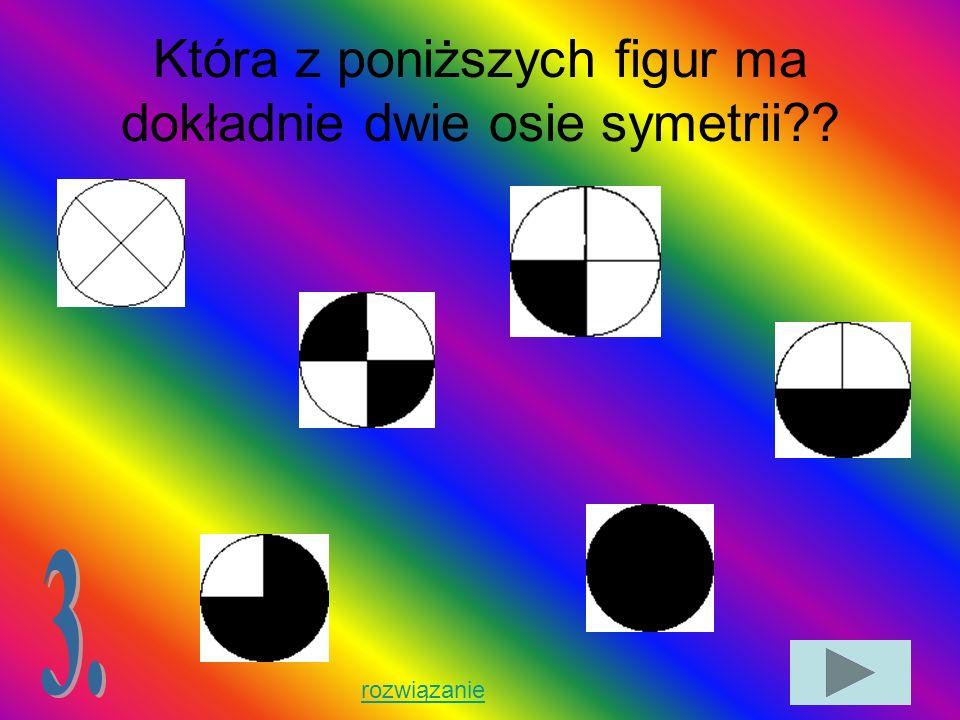 Która z poniższych figur ma dokładnie dwie osie symetrii