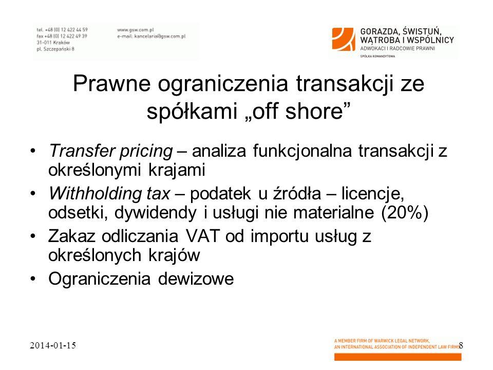 """Prawne ograniczenia transakcji ze spółkami """"off shore"""