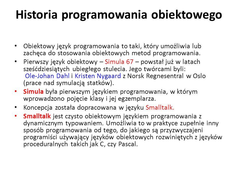 Historia programowania obiektowego