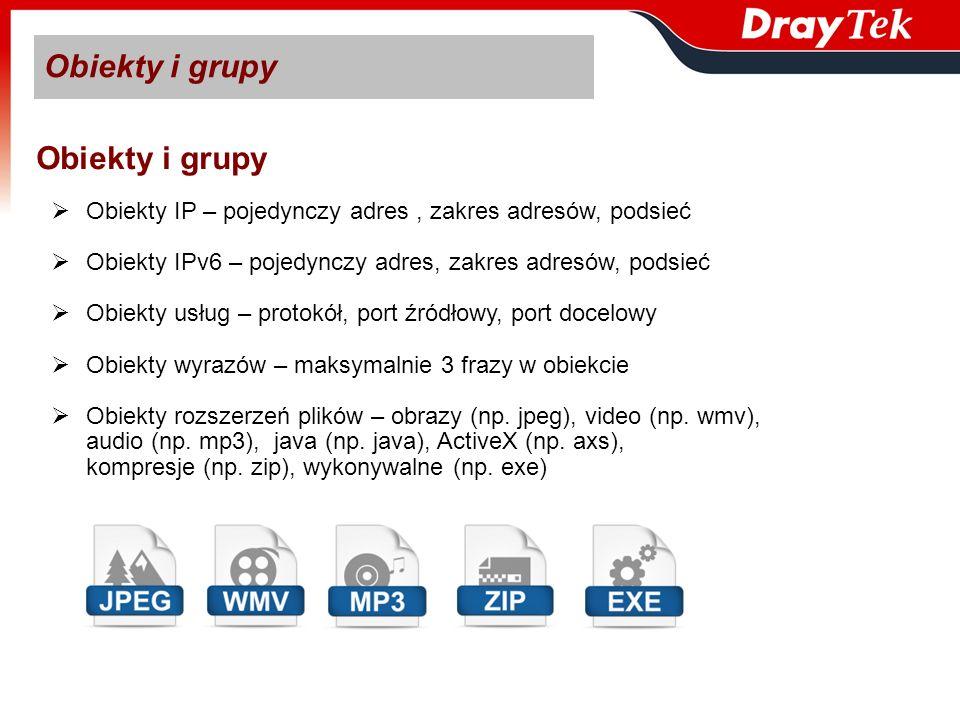 Obiekty i grupy Obiekty i grupy