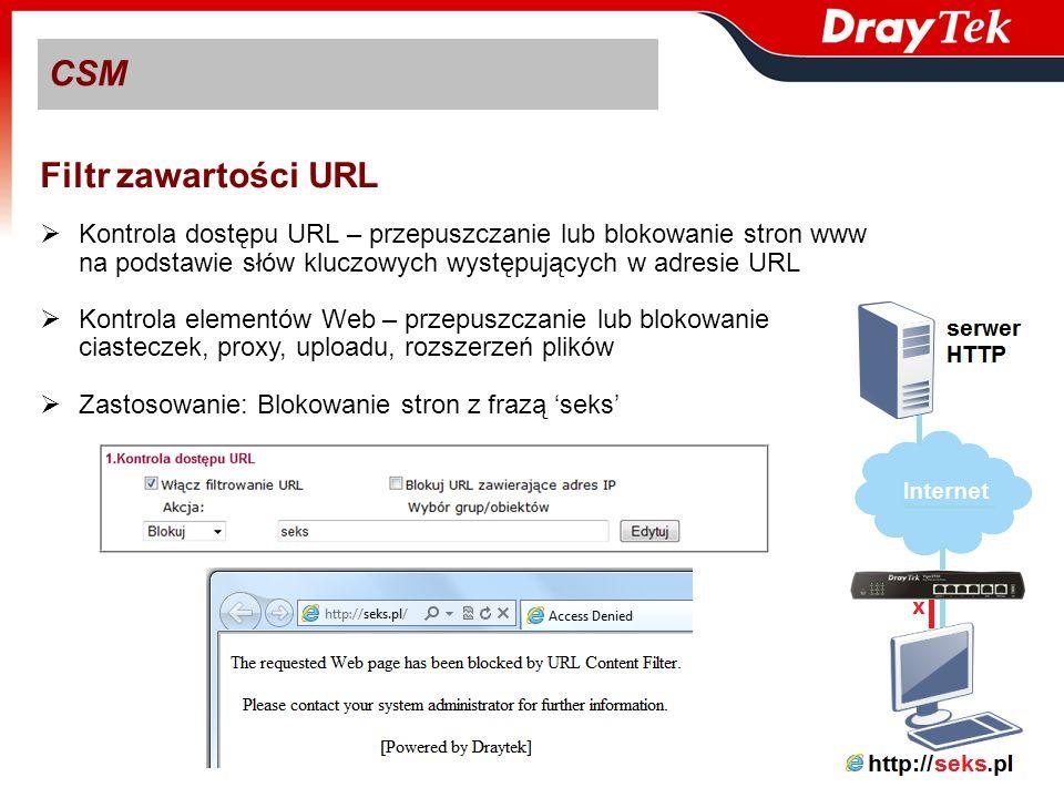 CSM Filtr zawartości URL