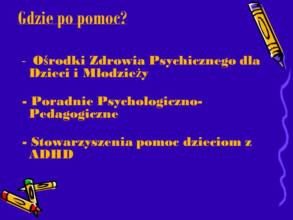 Gdzie po pomoc - Poradnie Psychologiczno-Pedagogiczne