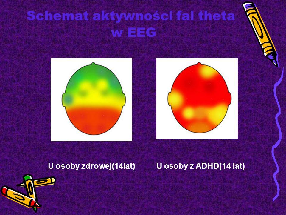 Schemat aktywności fal theta w EEG