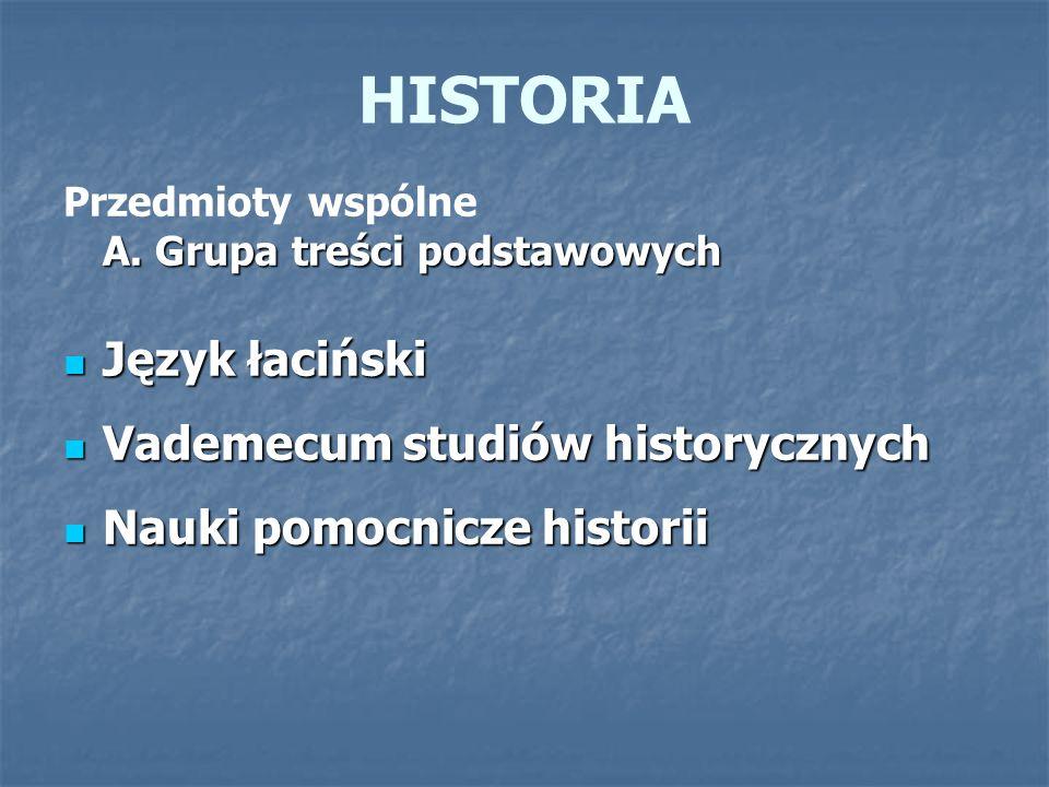 HISTORIA Język łaciński Vademecum studiów historycznych