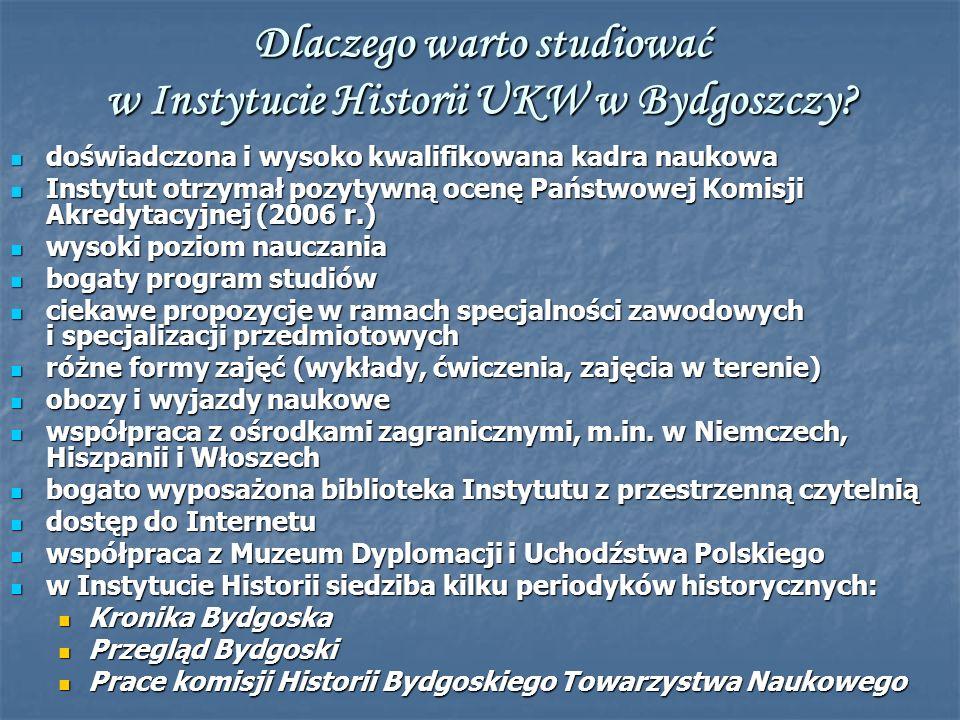 Dlaczego warto studiować w Instytucie Historii UKW w Bydgoszczy