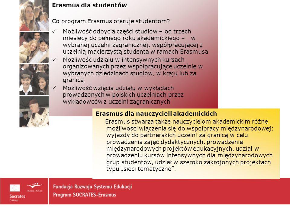 Erasmus dla studentów Co program Erasmus oferuje studentom