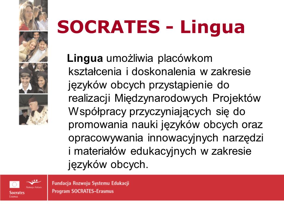 SOCRATES - Lingua