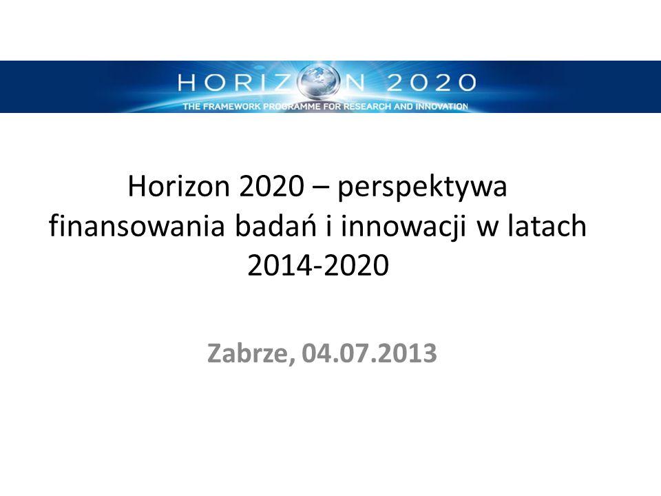 Horizon 2020 – perspektywa finansowania badań i innowacji w latach 2014-2020