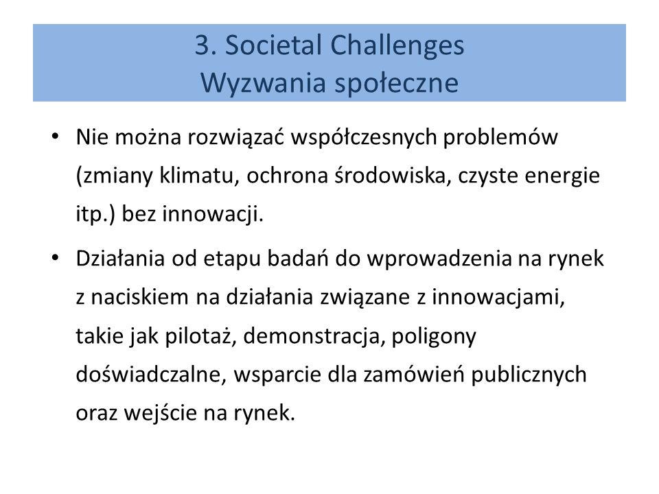 3. Societal Challenges Wyzwania społeczne