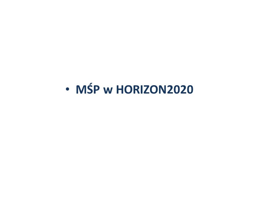 MŚP w HORIZON2020