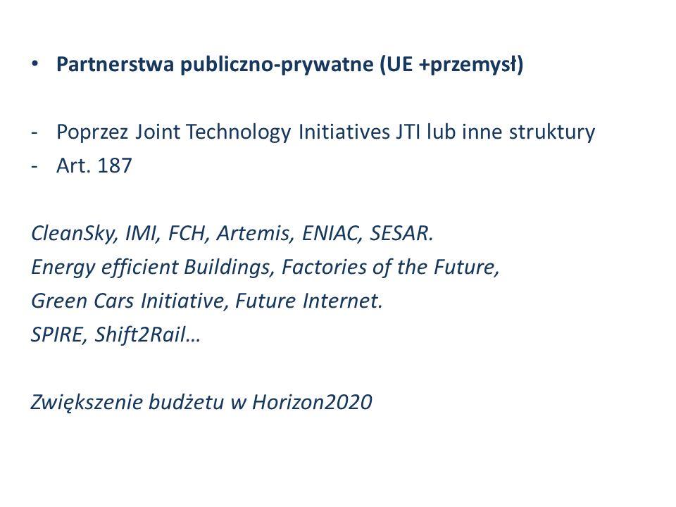 Partnerstwa publiczno-prywatne (UE +przemysł)