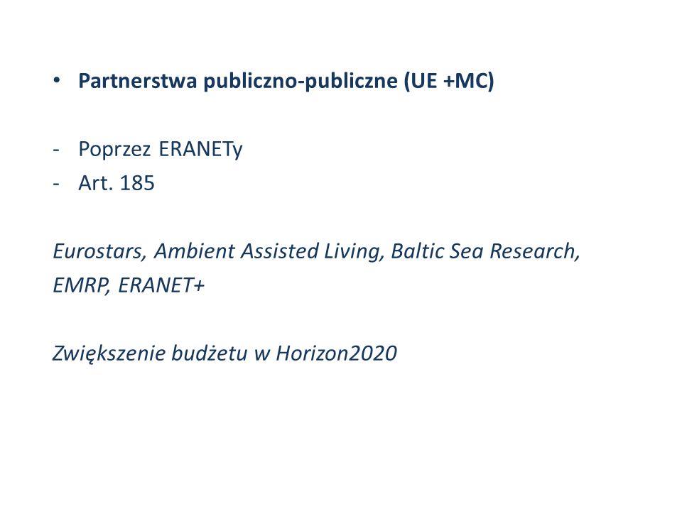 Partnerstwa publiczno-publiczne (UE +MC)