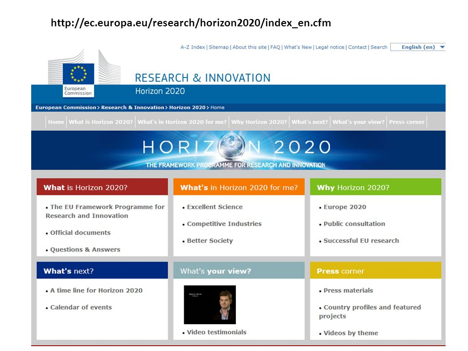 http://ec.europa.eu/research/horizon2020/index_en.cfm
