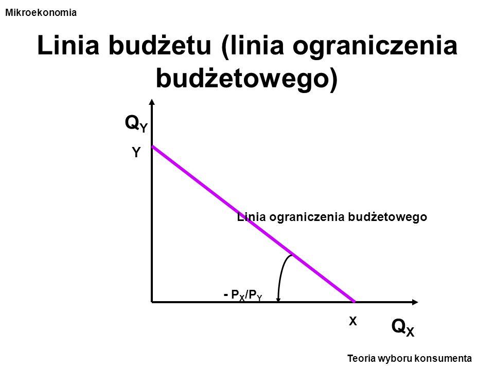Linia budżetu (linia ograniczenia budżetowego)