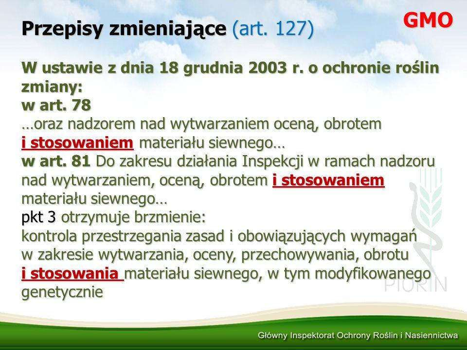 Przepisy zmieniające (art. 127)