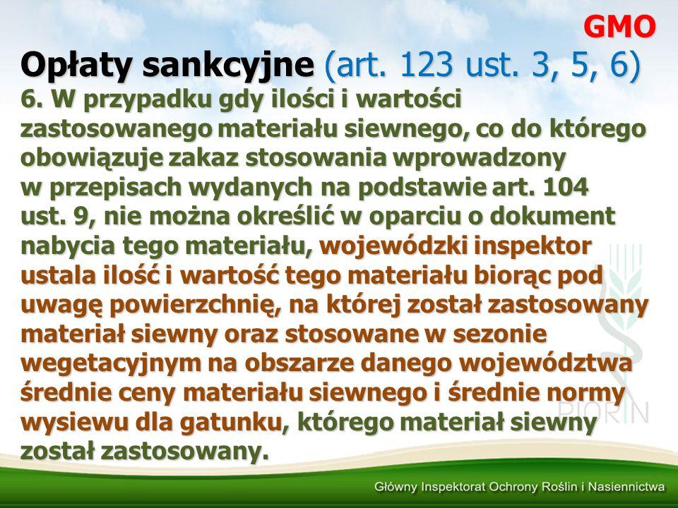 Opłaty sankcyjne (art. 123 ust. 3, 5, 6)