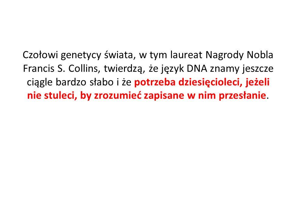 Czołowi genetycy świata, w tym laureat Nagrody Nobla Francis S