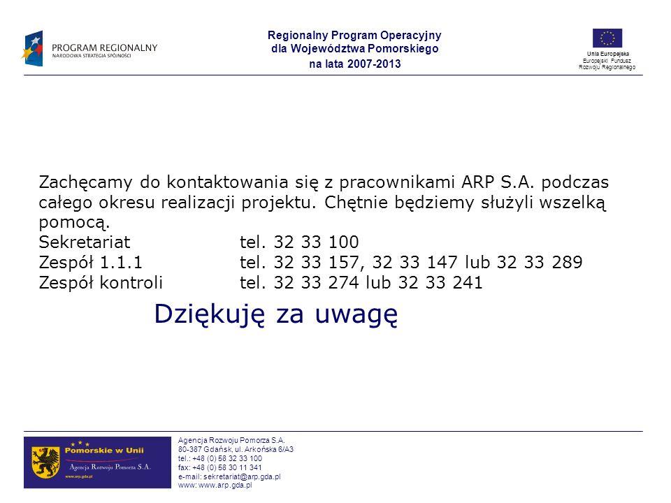Zachęcamy do kontaktowania się z pracownikami ARP S. A