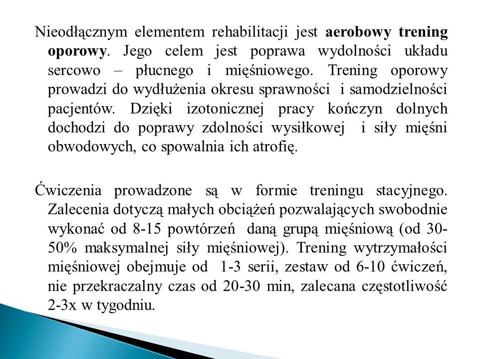 Nieodłącznym elementem rehabilitacji jest aerobowy trening oporowy