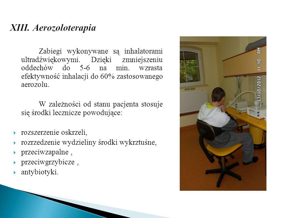 XIII. Aerozoloterapia