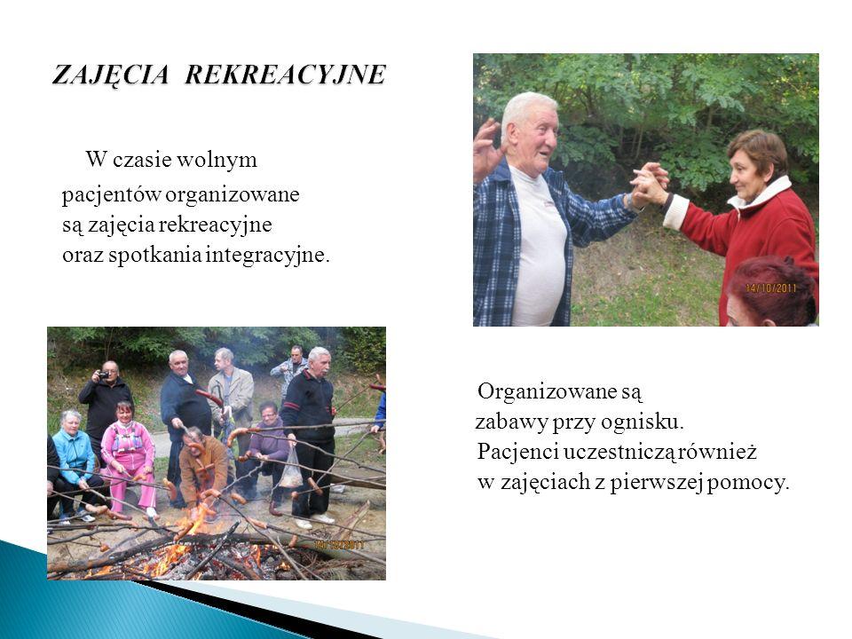W czasie wolnym ZAJĘCIA REKREACYJNE pacjentów organizowane