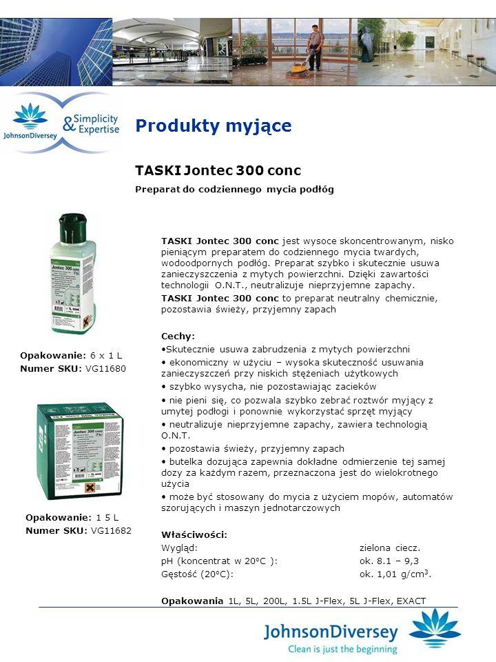 Produkty myjące TASKI Jontec 300 conc