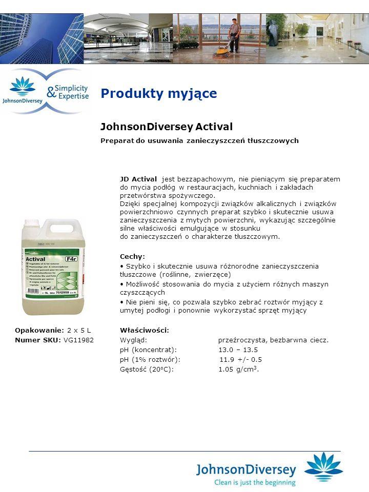 Produkty myjące JohnsonDiversey Actival