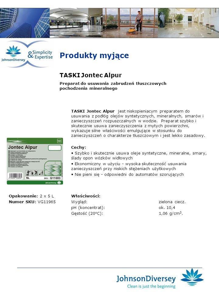 Produkty myjące TASKI Jontec Alpur