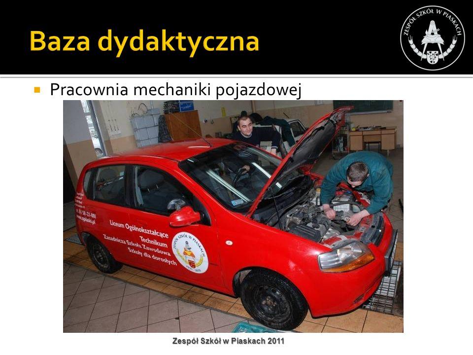 Baza dydaktyczna Pracownia mechaniki pojazdowej