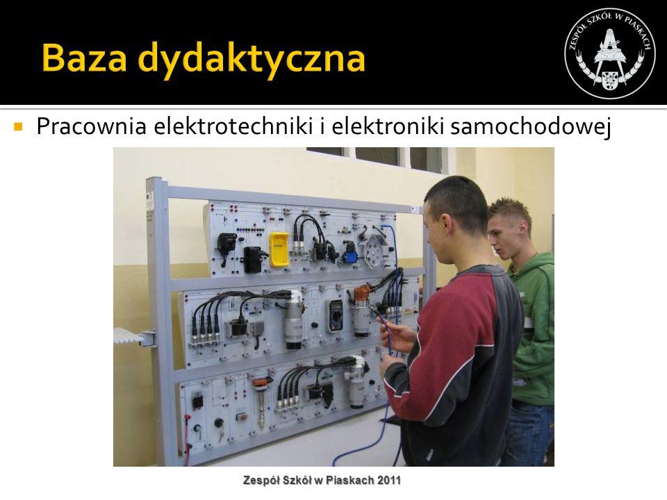 Baza dydaktyczna Pracownia elektrotechniki i elektroniki samochodowej