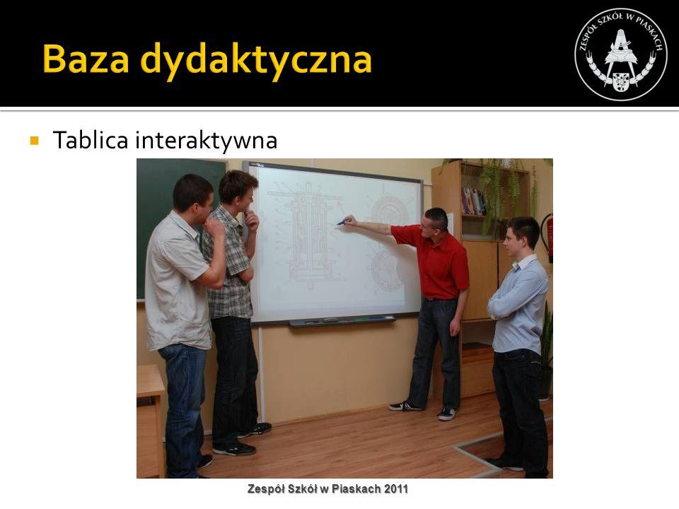 Baza dydaktyczna Tablica interaktywna Zespół Szkół w Piaskach 2011