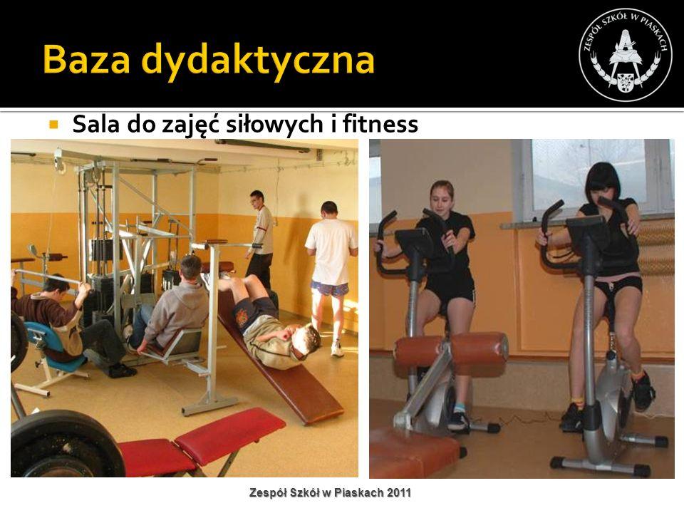 Baza dydaktyczna Sala do zajęć siłowych i fitness