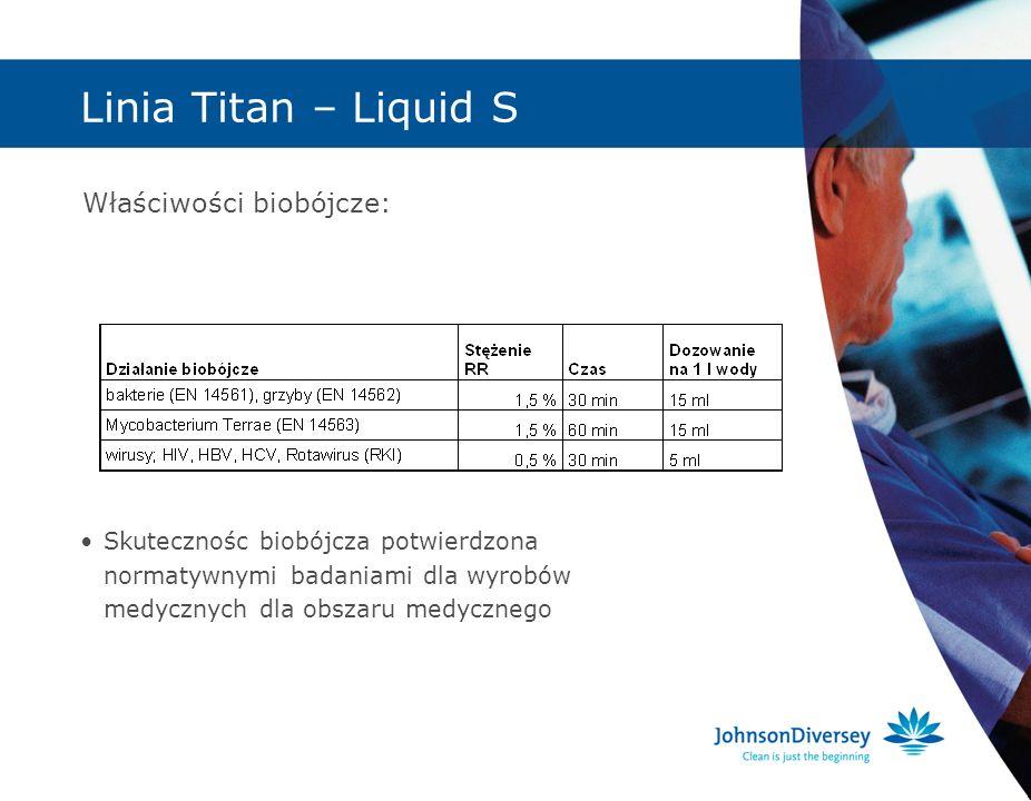 Linia Titan – Liquid S Właściwości biobójcze: