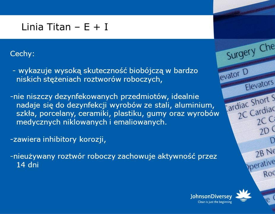 Linia Titan – E + I Cechy: