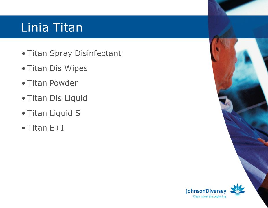 Linia Titan Titan Spray Disinfectant Titan Dis Wipes Titan Powder